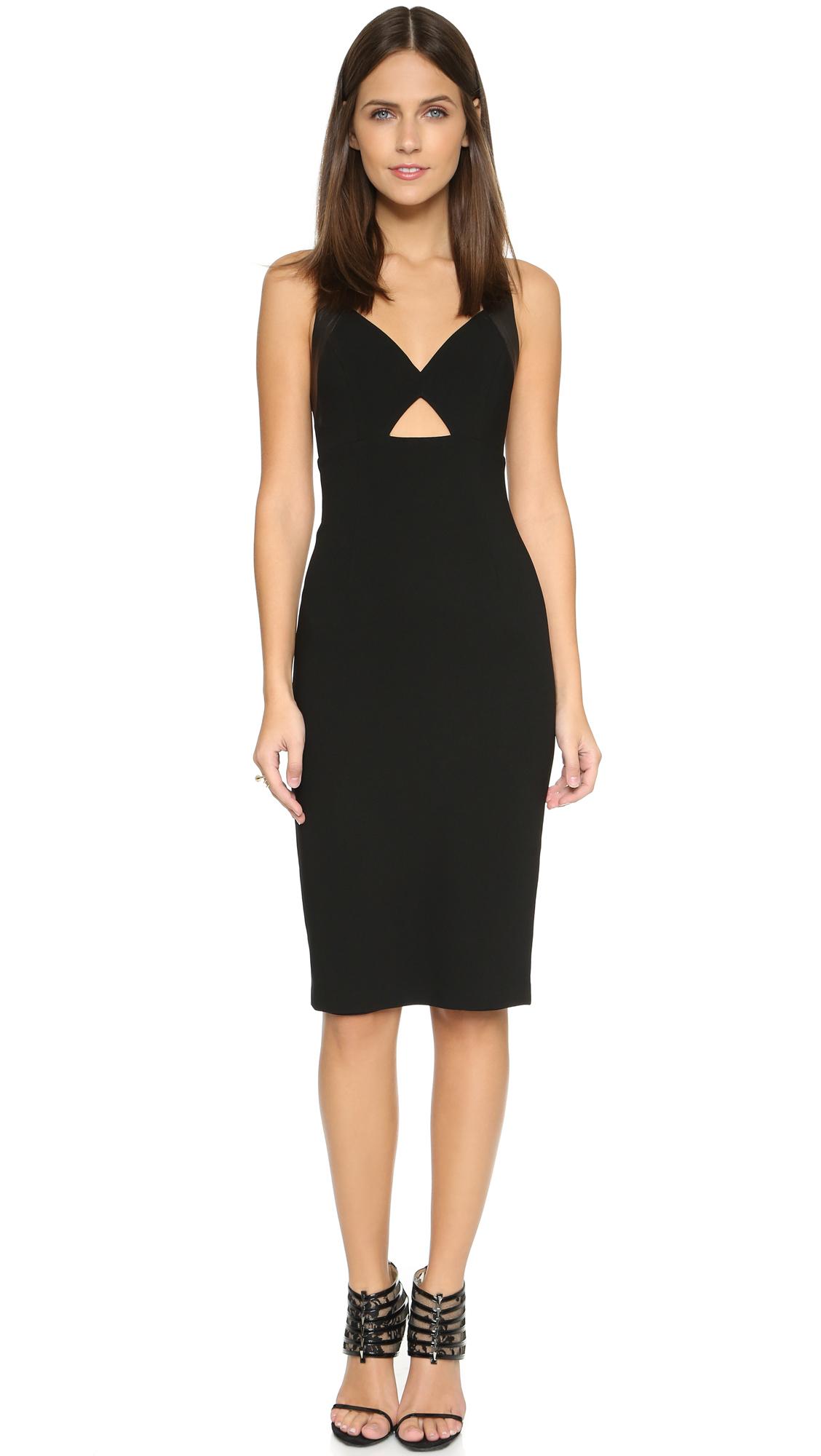 45ceb7710b Alice + Olivia Hera Cutout Dress in Black - Lyst