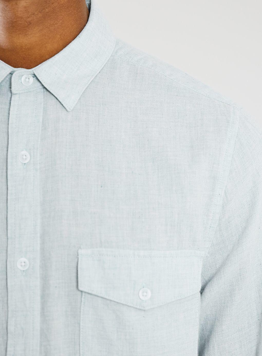 Topman Long Sleeve Flannel Shirt In Blue For Men Lyst
