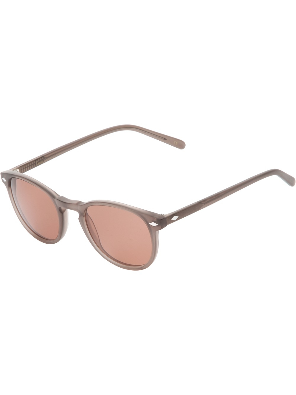 e848c563a45 Lesca Circle Frame Sunglasses in Brown - Lyst