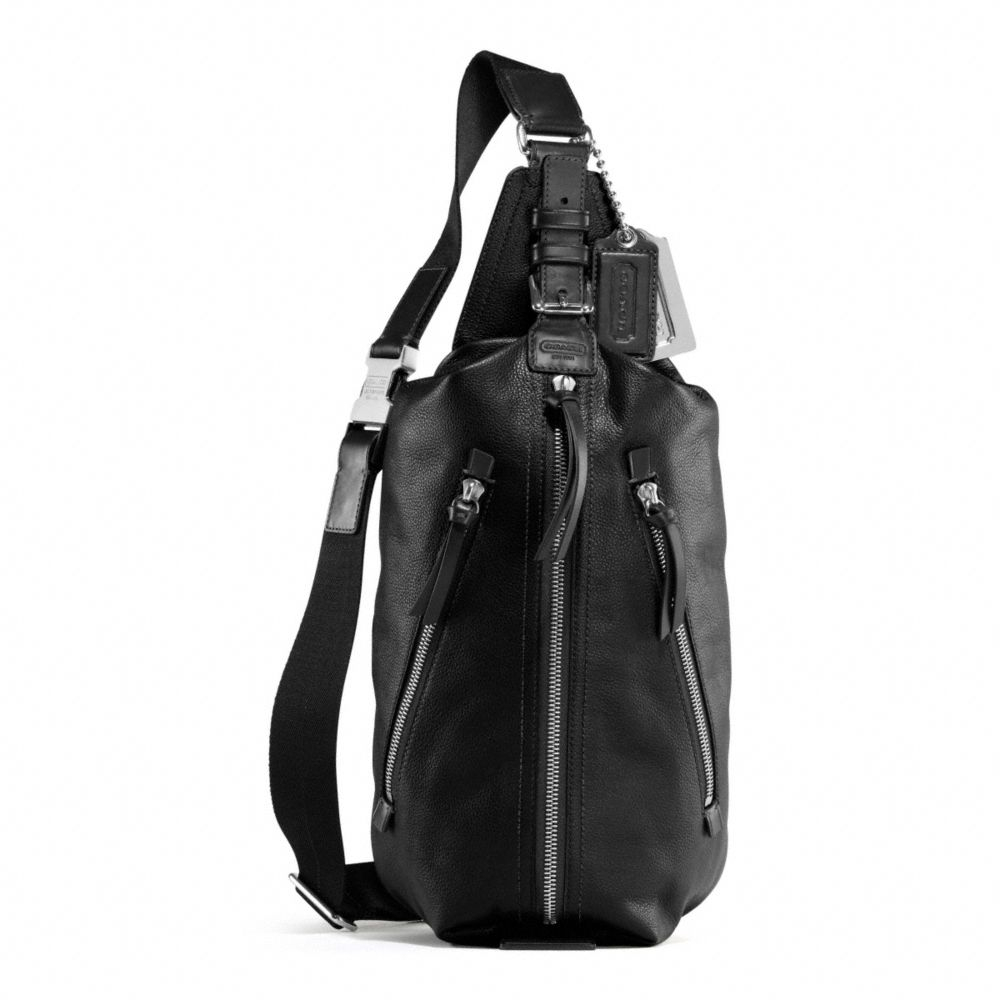 Lyst - COACH Thompson Leather Sling Pack in Black