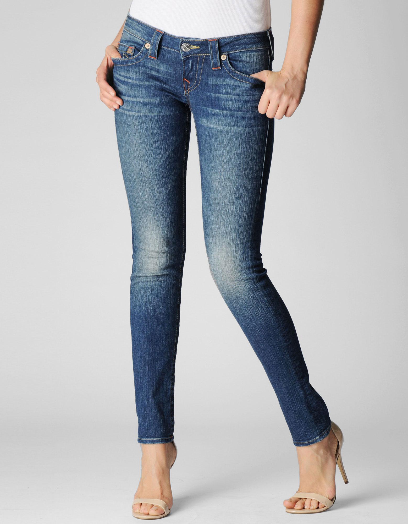 True religion Womens Originals Stella 32&quot Low Rise Skinny Jean in