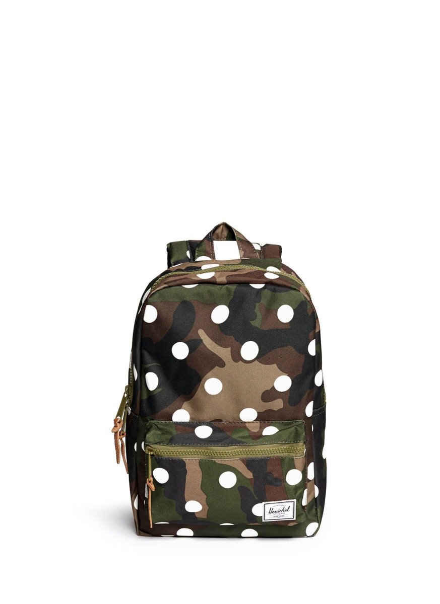 Lyst - Herschel supply co. 'Settlement' Polka Dot Camouflage Kids ...