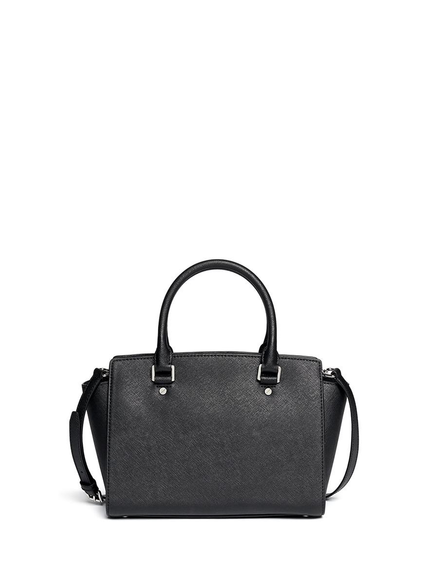 michael kors 39 micro stud selma 39 medium saffiano leather. Black Bedroom Furniture Sets. Home Design Ideas