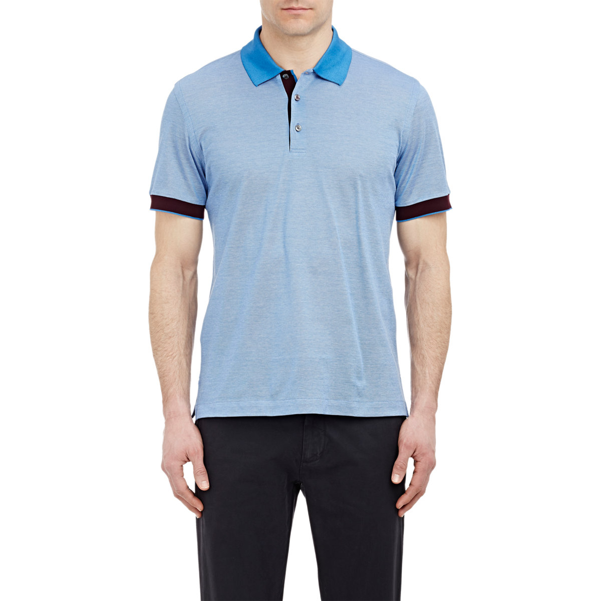4e01badb Lyst - Brioni Tipped Pique Polo Shirt in Blue for Men