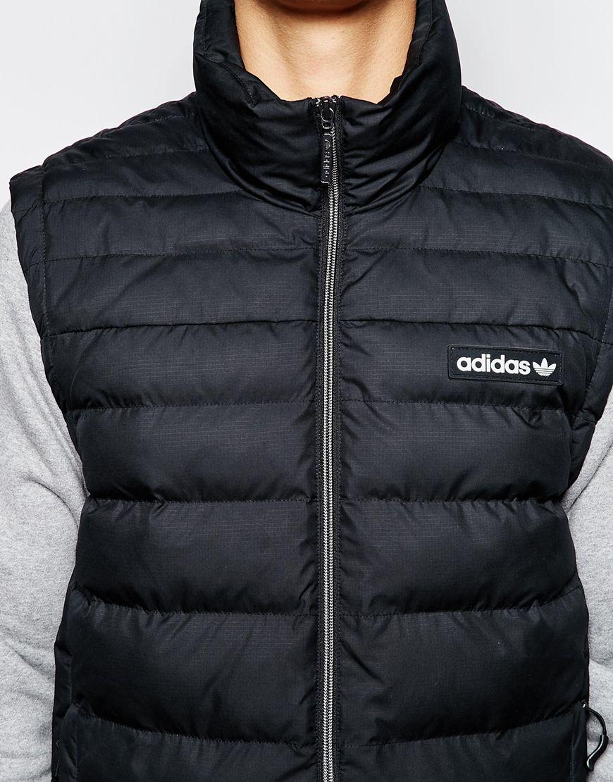 Lyst Adidas Originals Padded Vest Ab7869 In Black For Men