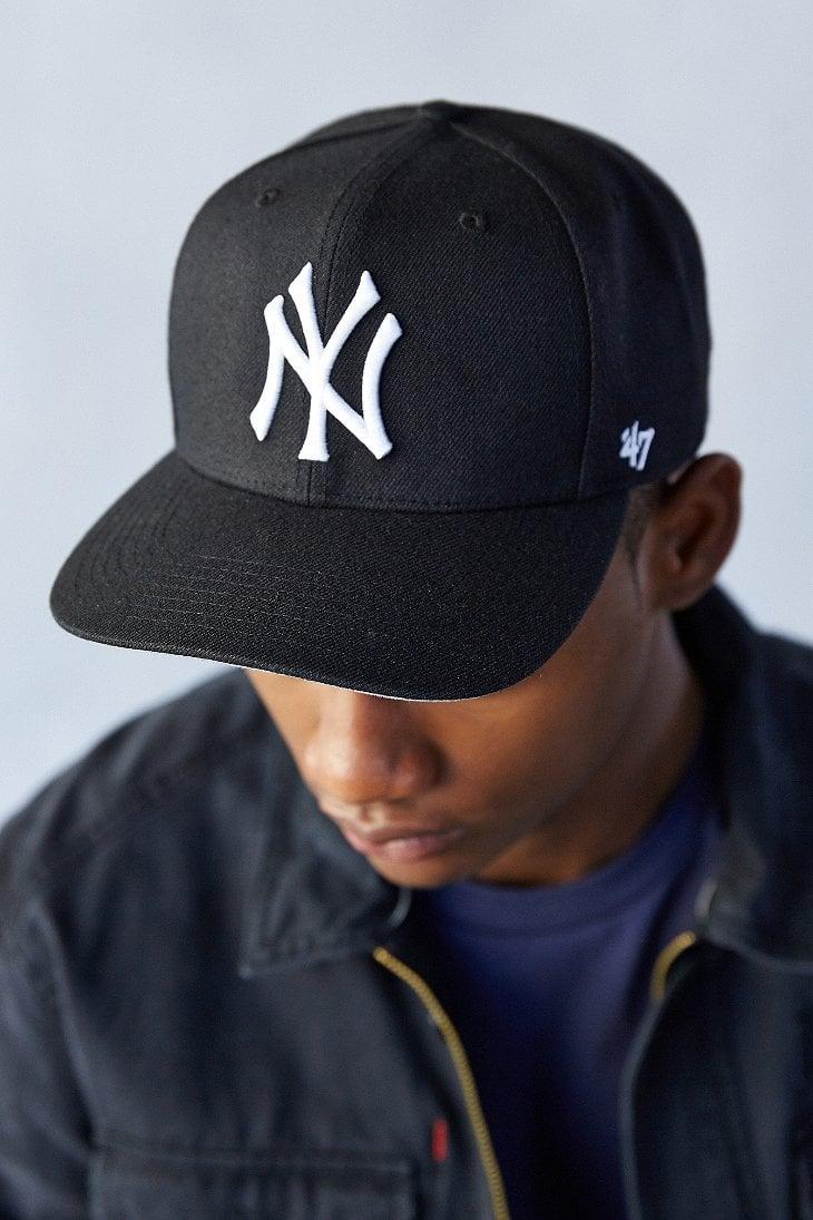 a032d808c21 Lyst - 47 Brand Sure Shot Yankees Snapback Hat in Black for Men