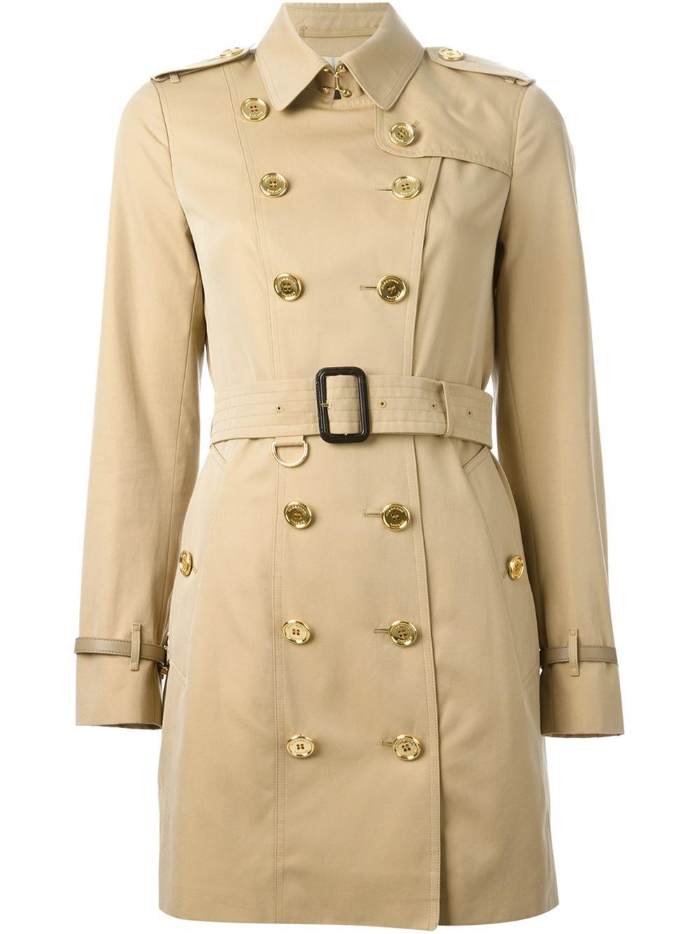 Beige trench coat women