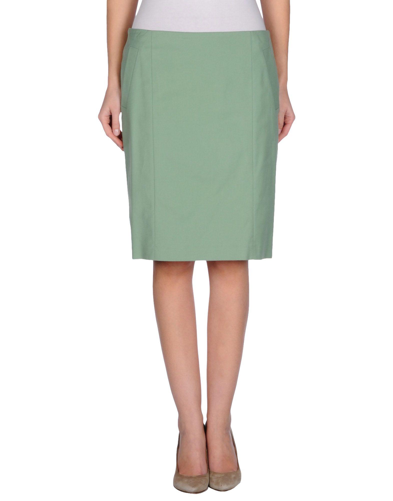 peserico knee length skirt in green lyst