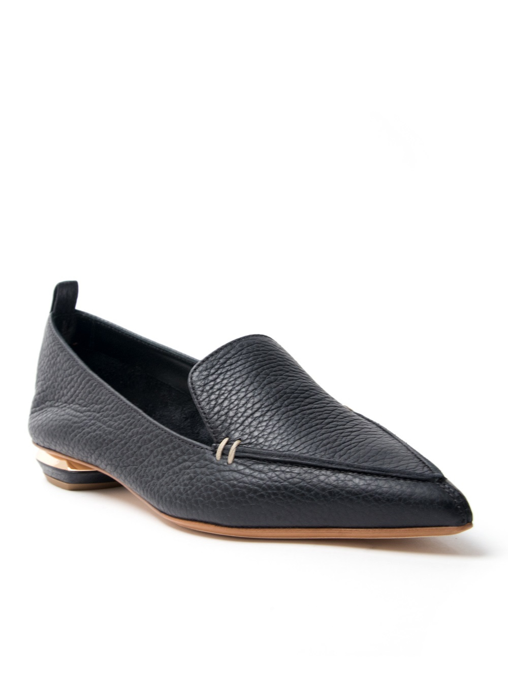 Lyst Nicholas Kirkwood Pointed Loafer In Black