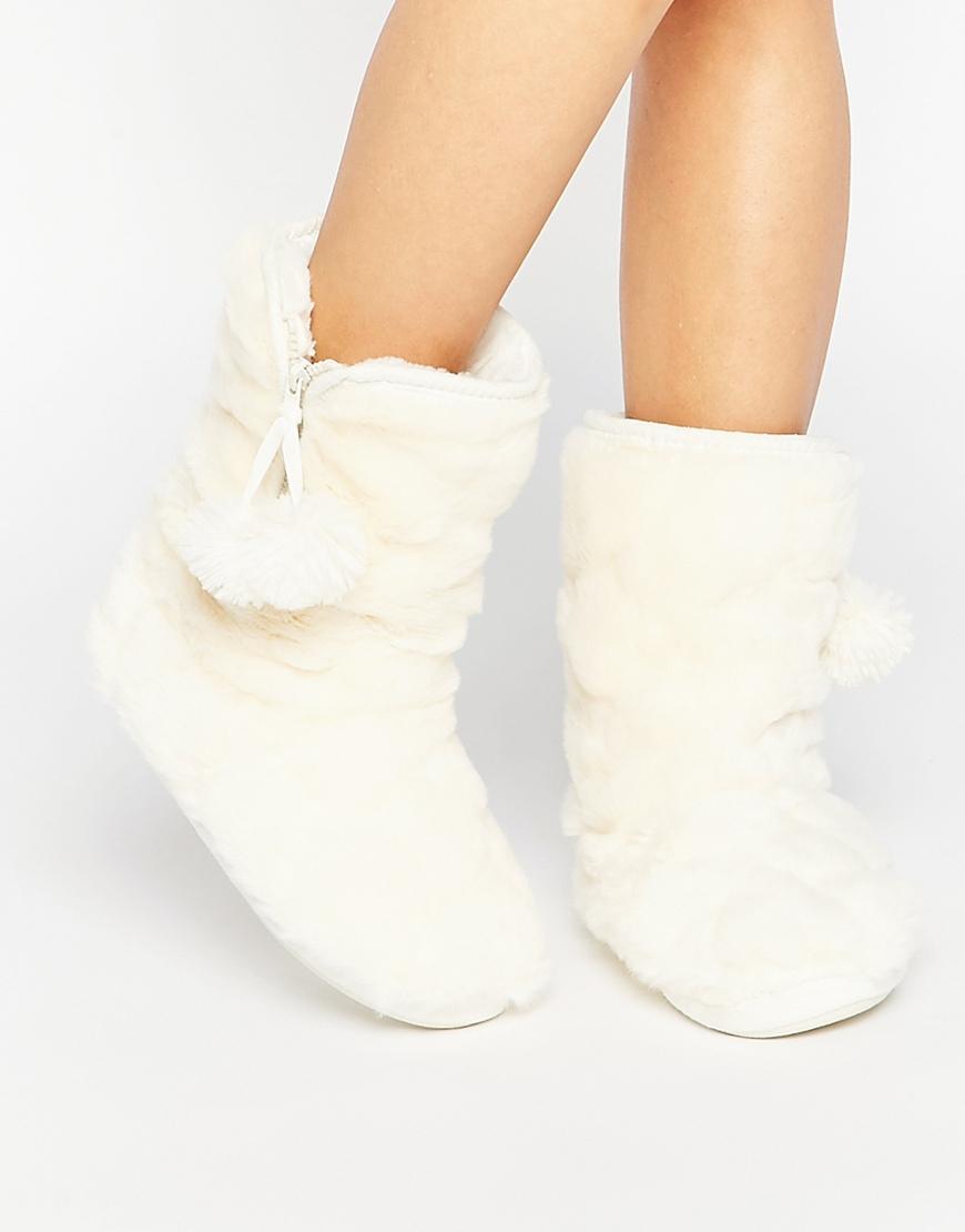 Buy Women Shoes / Oasis Fluffy Fur Bootie Slipper
