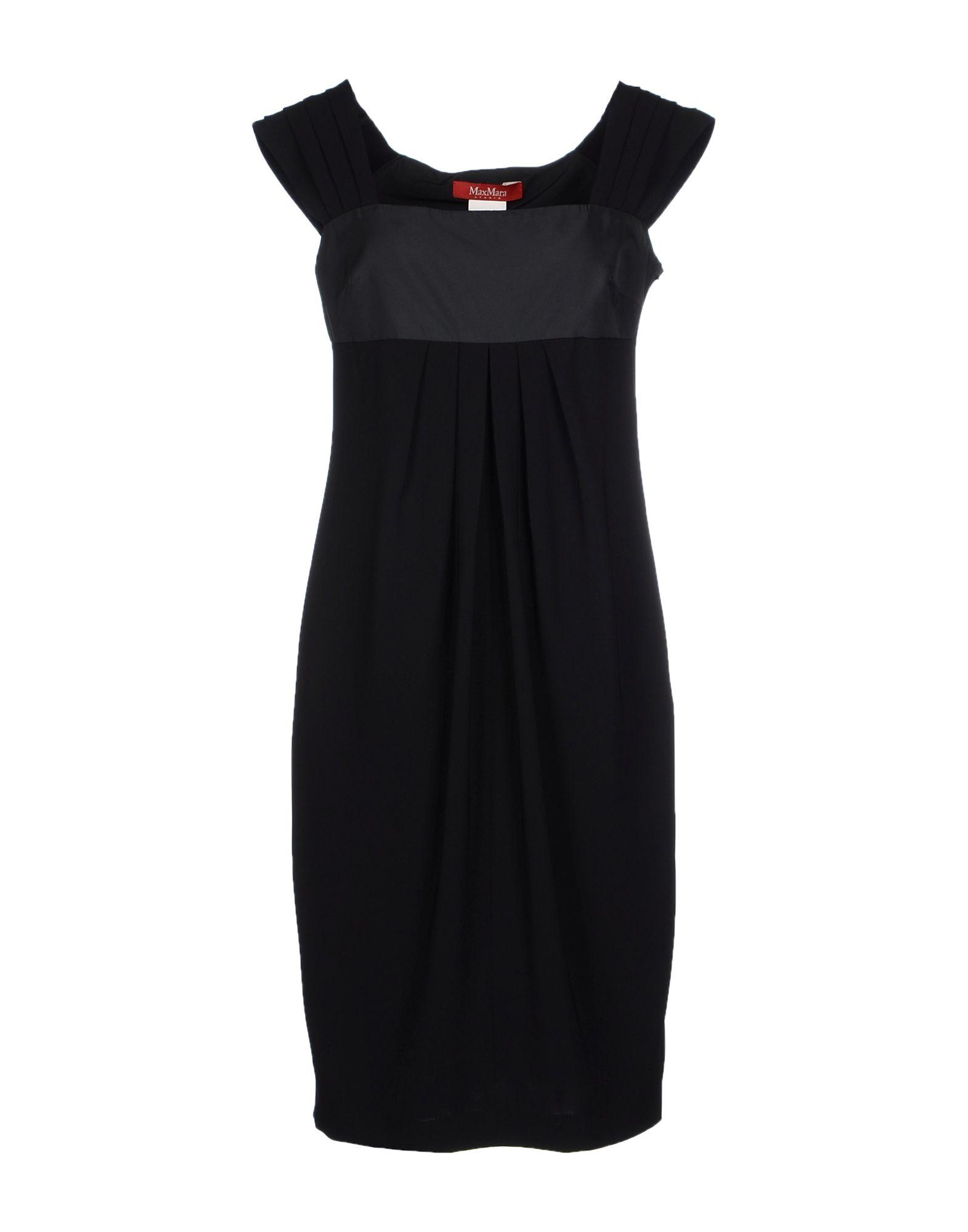 max mara studio knee length dress in black lyst. Black Bedroom Furniture Sets. Home Design Ideas