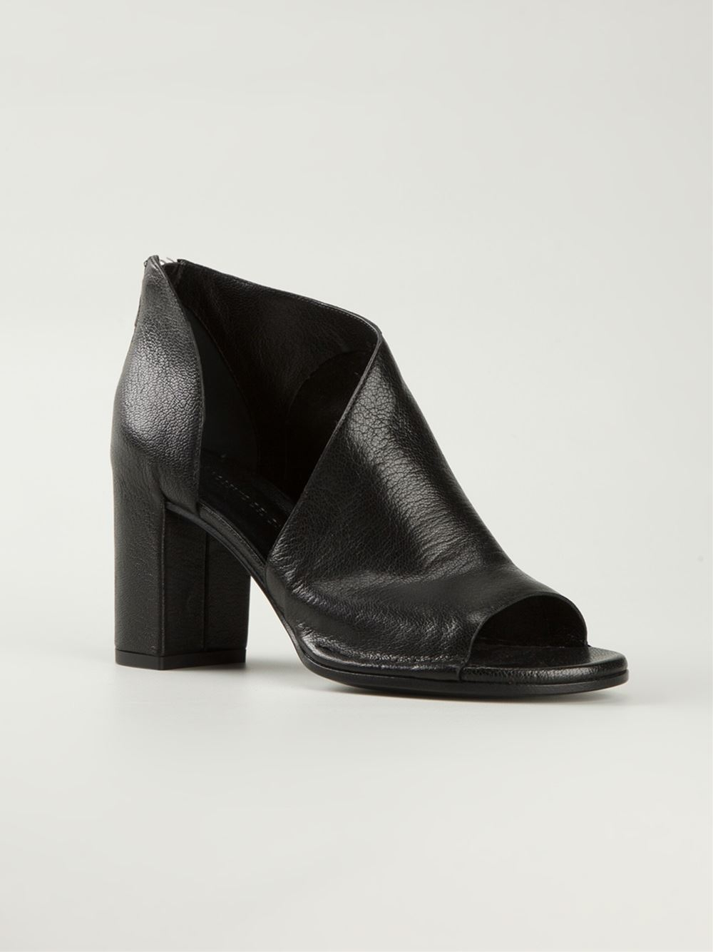 Roberto Del Carlo Cut Out Side Booties In Black Lyst