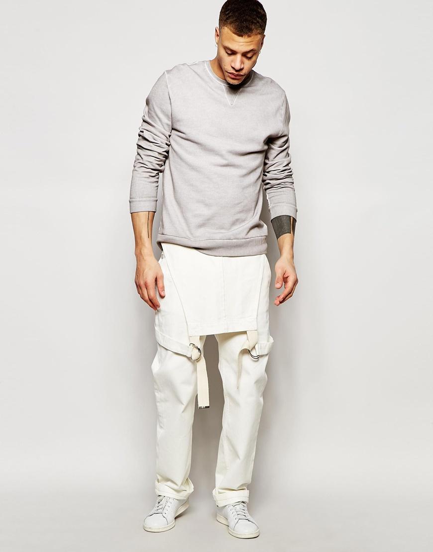 Asos Denim Dungarees In Ecru In White For Men Lyst