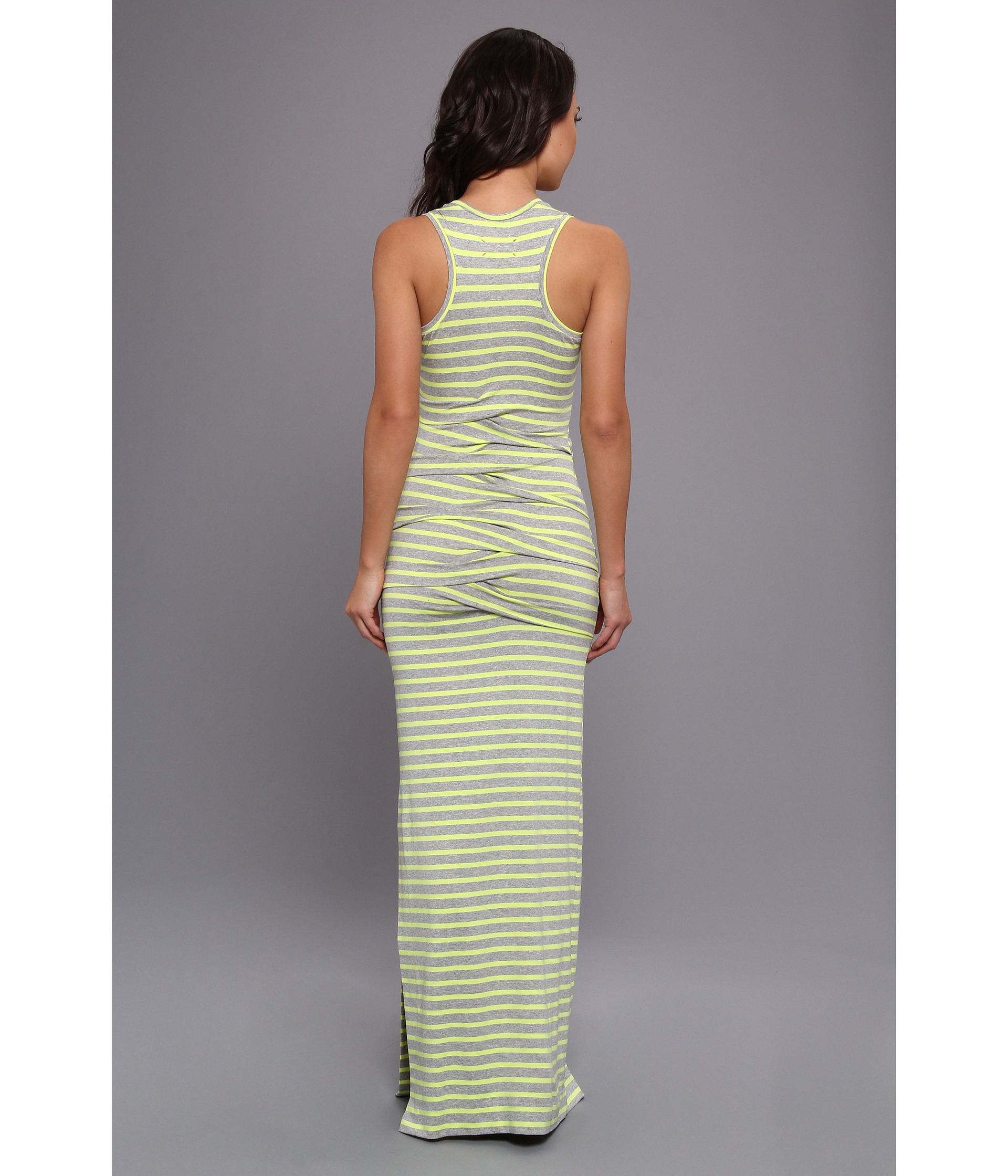 Nicole miller Maxi Tidal Wave Dress in Yellow | Lyst