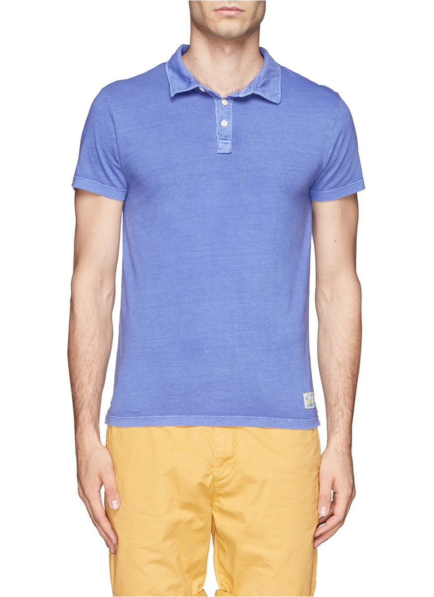 scotch soda jersey polo shirt in blue for men blue and green lyst. Black Bedroom Furniture Sets. Home Design Ideas