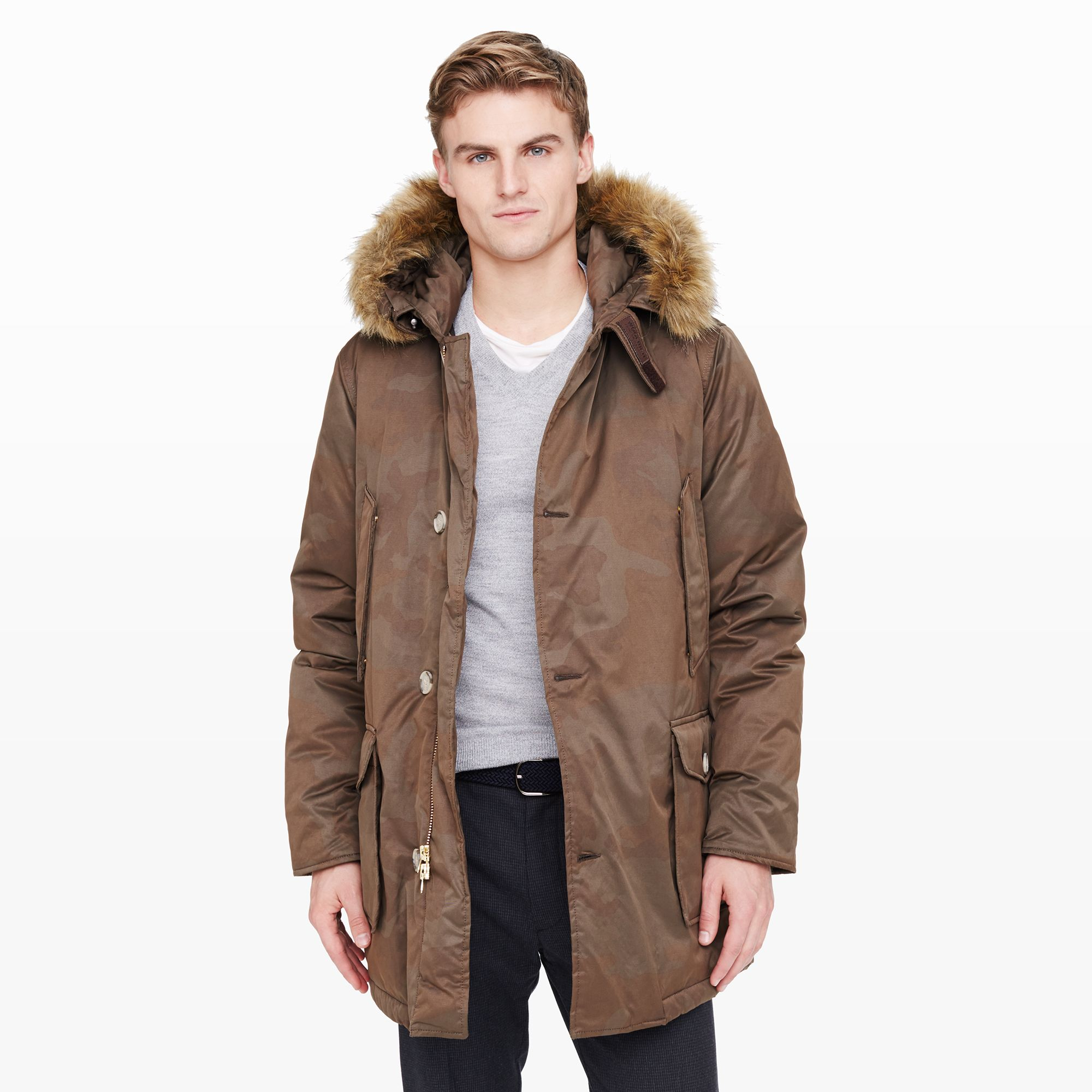 Lyst - Club Monaco Woolrich Camo Arctic Parka in Brown for Men 3f9998b05a