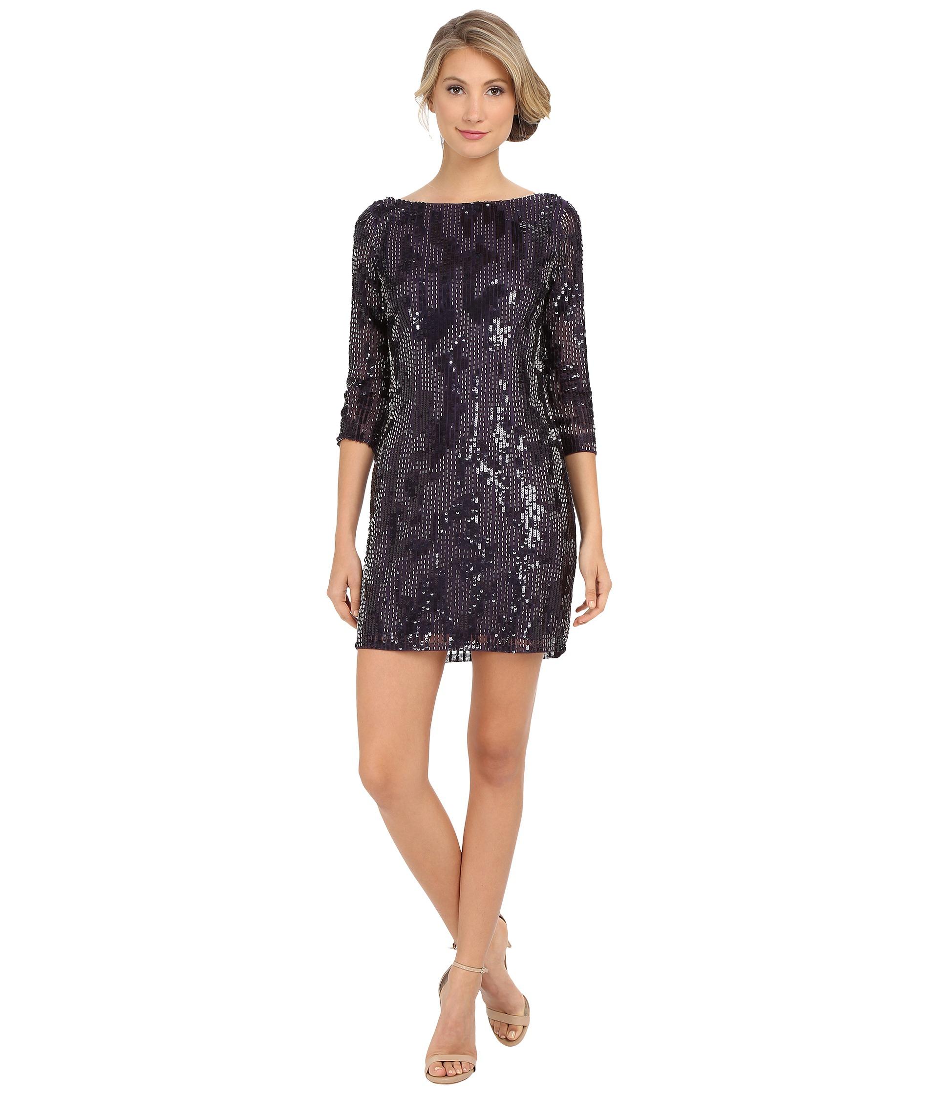 Drop waist beaded cocktail dress