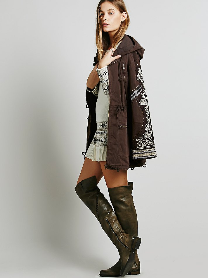 Lyst Free People Golden Quills Military Parka In Brown
