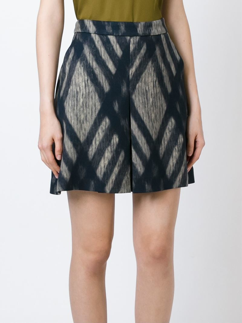 AQUARuffled Check Print Skirt - % Exclusive Black/White DQABQQE [DQABQQE] - Fits true to size, order your normal size Elasticized waist, tiered ruffle hem Allover check print, textured finish, pull-on style Model measurements: 5'10 height, bust, waist, hips, wearing a size small This item is part of our % Bloomingdale's collection, featuring exclusive pieces you.