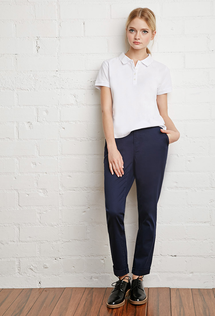 Lyst - Forever 21 School Uniform Trousers in Blue fa81a20781