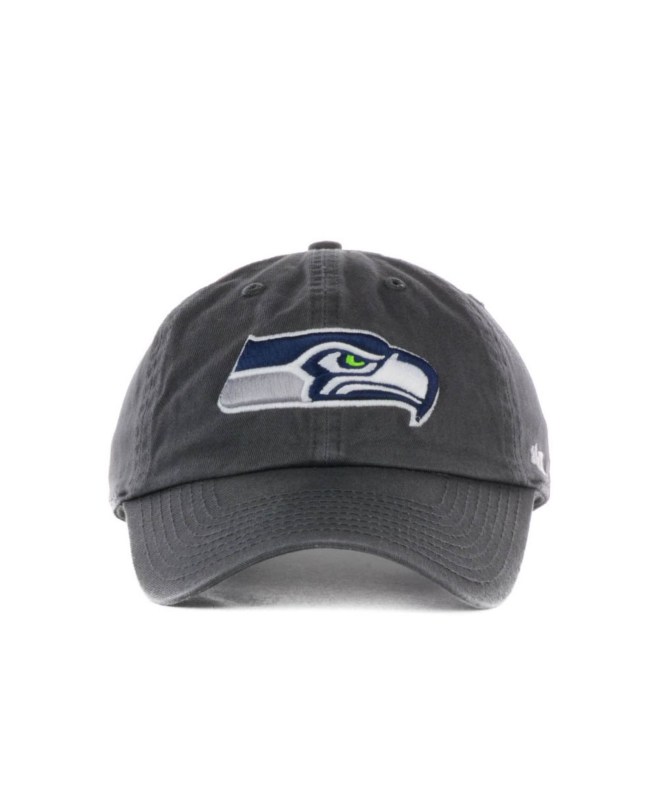 47 brand seattle seahawks clean up cap in gray for men lyst. Black Bedroom Furniture Sets. Home Design Ideas