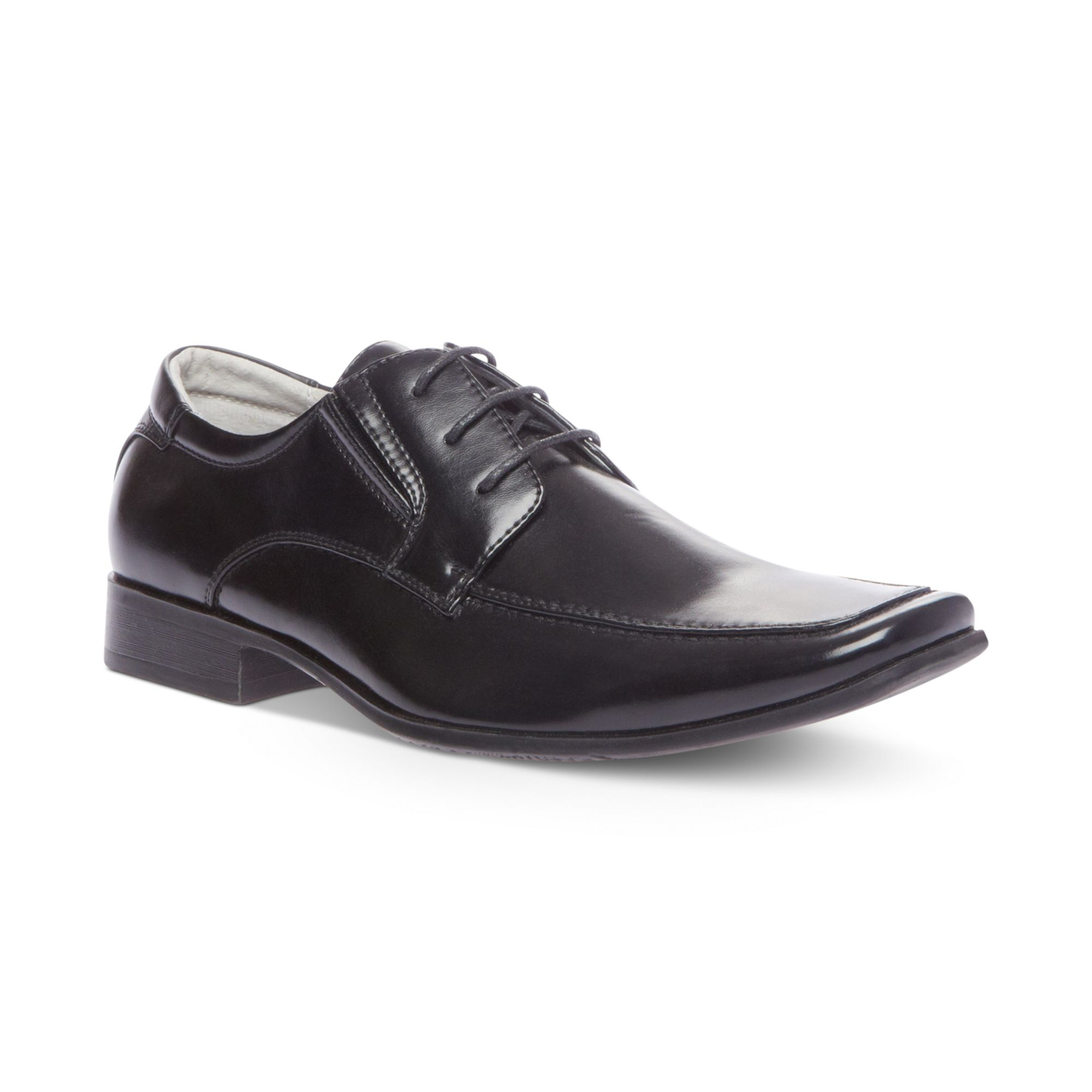 steve madden eagen laceup dress shoes in black for lyst