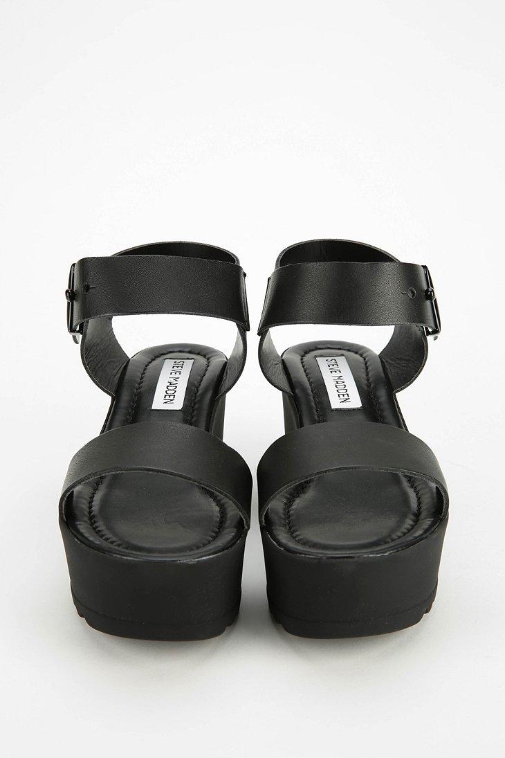 32b21e9c1ac Lyst - Steve Madden Surfside Platform Wedge Sandal in Black