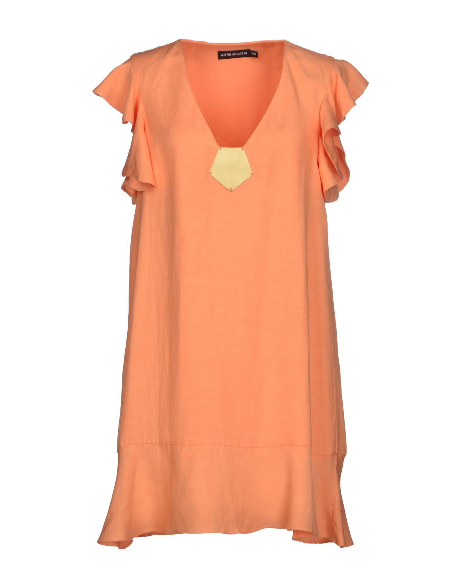 Antik batik Short Dress in Orange | Lyst