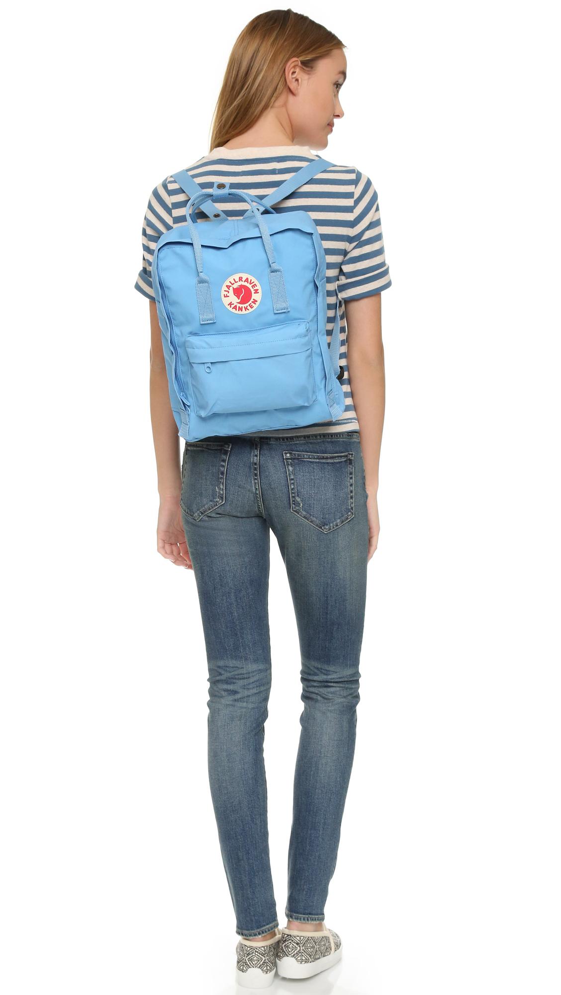 Fjallraven Kanken Backpack In Blue Air Blue Lyst