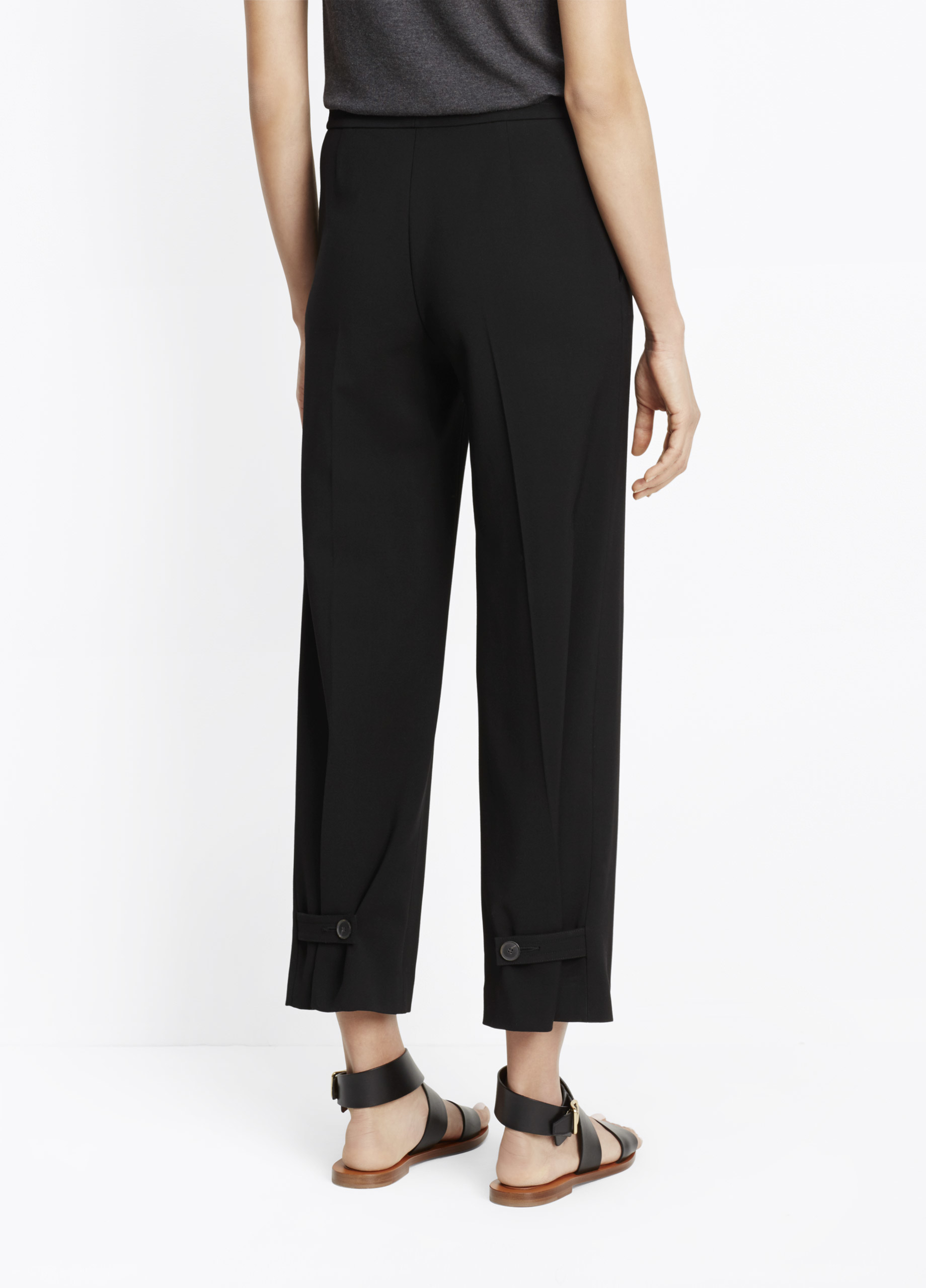 Vince Tailored Adjustable Culotte Pants In Black Lyst