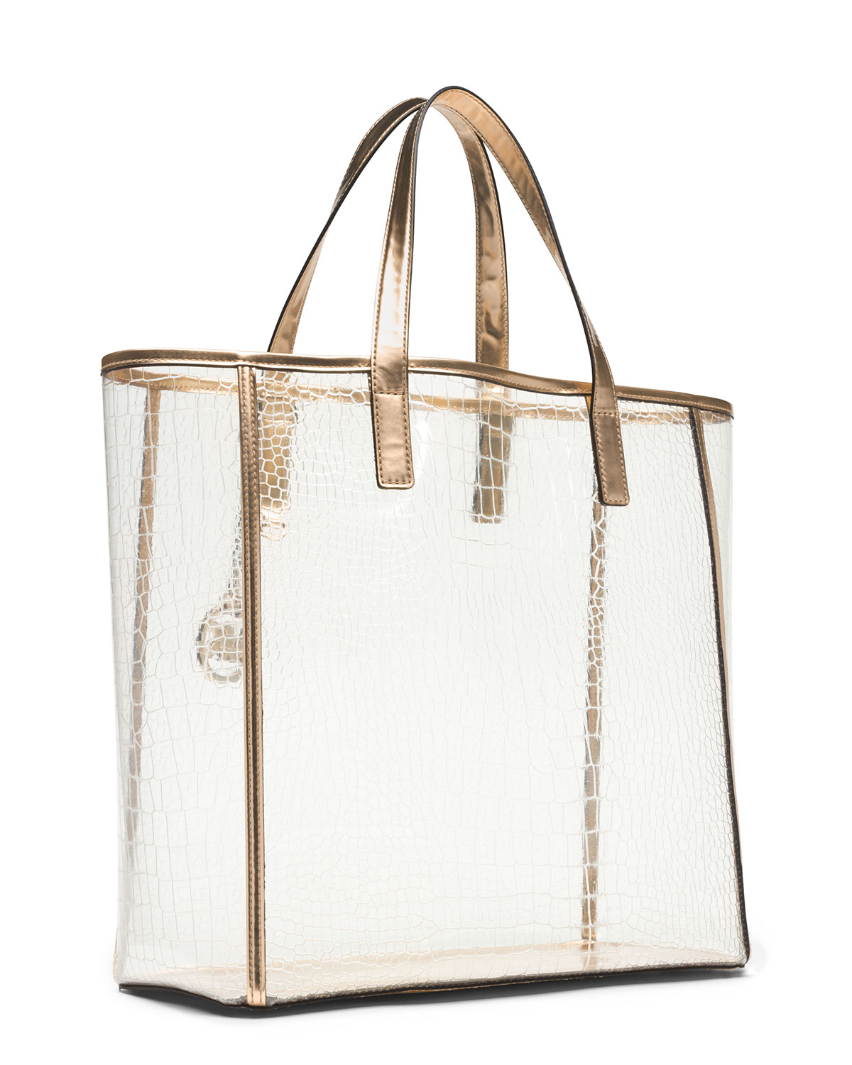 17d7068b9edcc3 ... bag large clear tote 491e8 19095; low cost lyst michael michael kors  large nora tote in metallic e891d 32c99