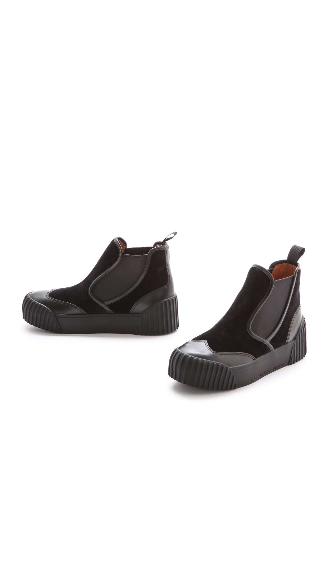 Marc Jacobs Black Velvet Slip-On Sneakers cS5ck