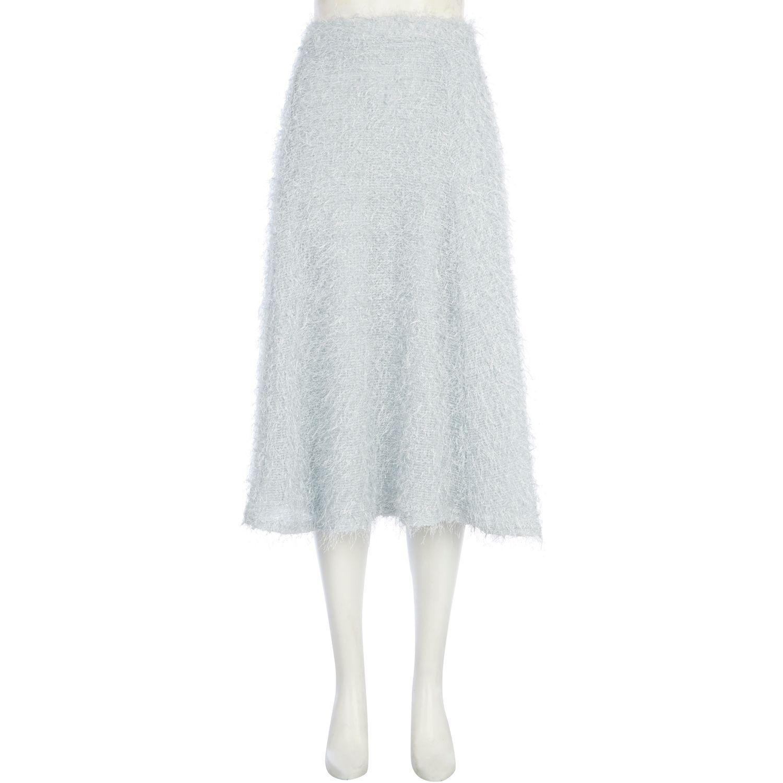 River island Light Grey Eyelash Knit Full Midi Skirt in Gray | Lyst