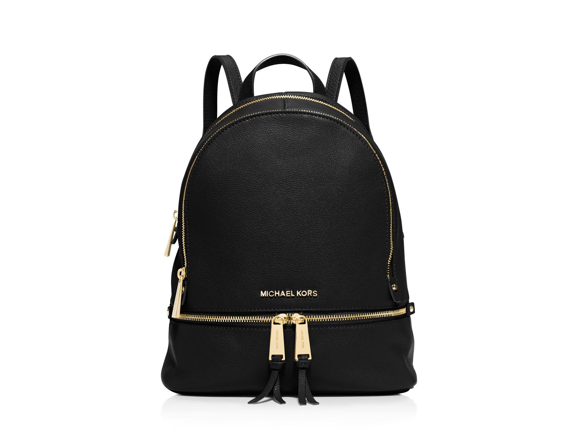 2e6cbe8e3e5e6 ... sweden michael michael kors small rhea zip backpack in black lyst 9e576  a4a35