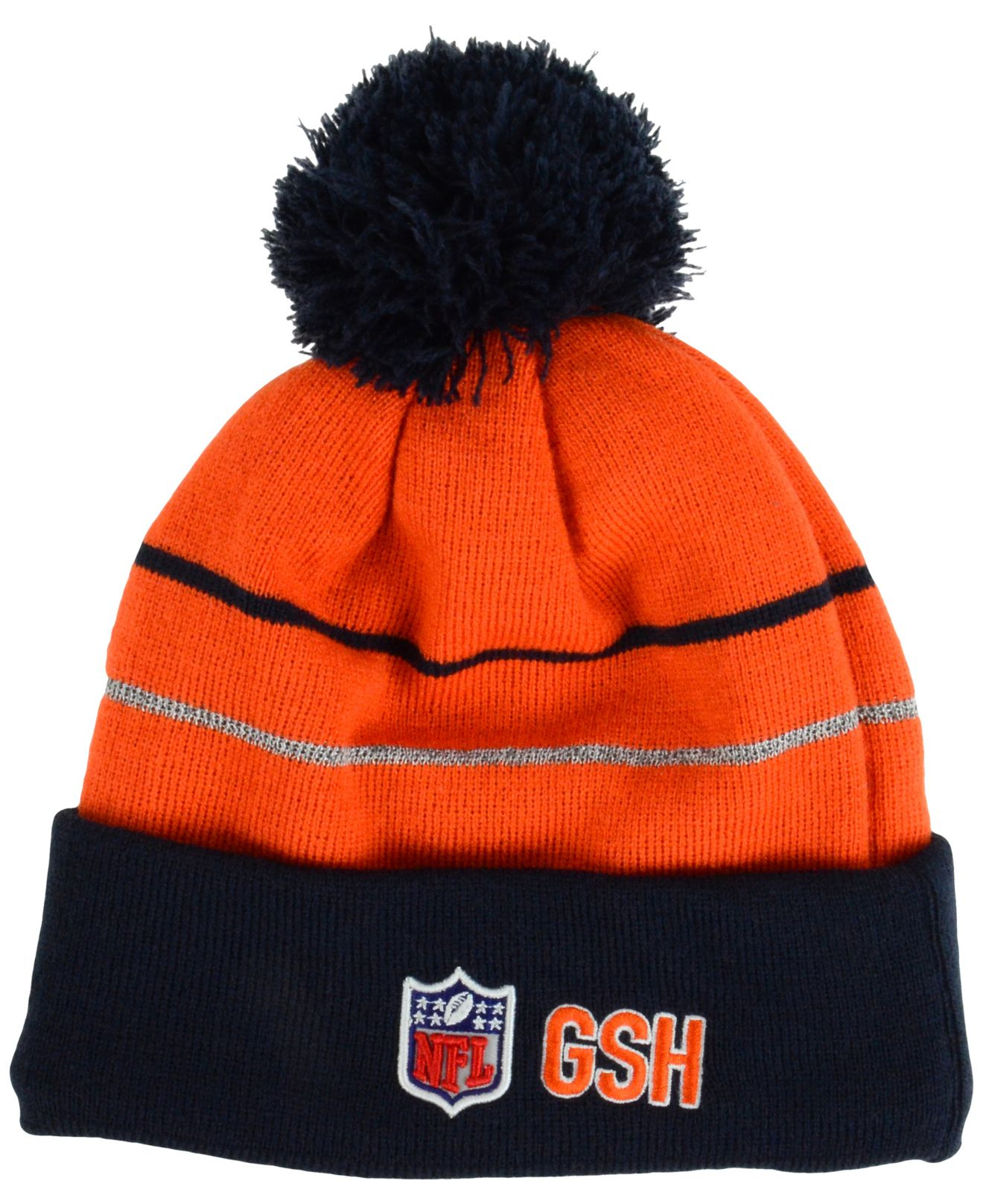 430f0b476 ... hat with pom ad083 269b8  shopping lyst ktz chicago bears thanksgiving  on field reflective sport knit 99962 6e094