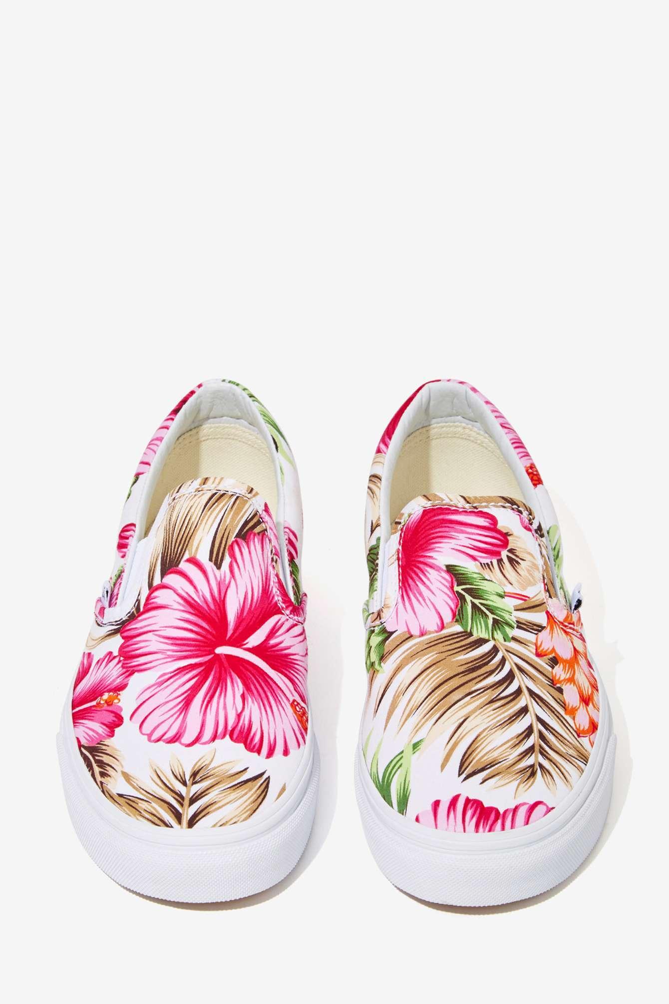Hawaiian Floral Vans Shoes