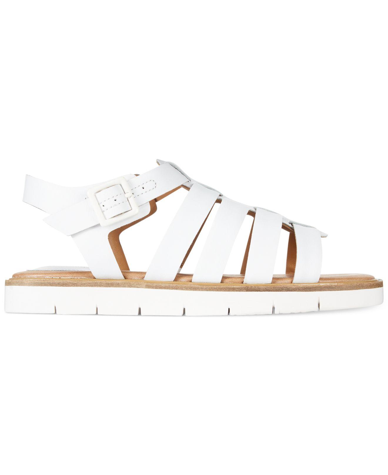 6ac02455d80 Lyst - Clarks Artisan Women S Lydie Kona Flat Sandals in White