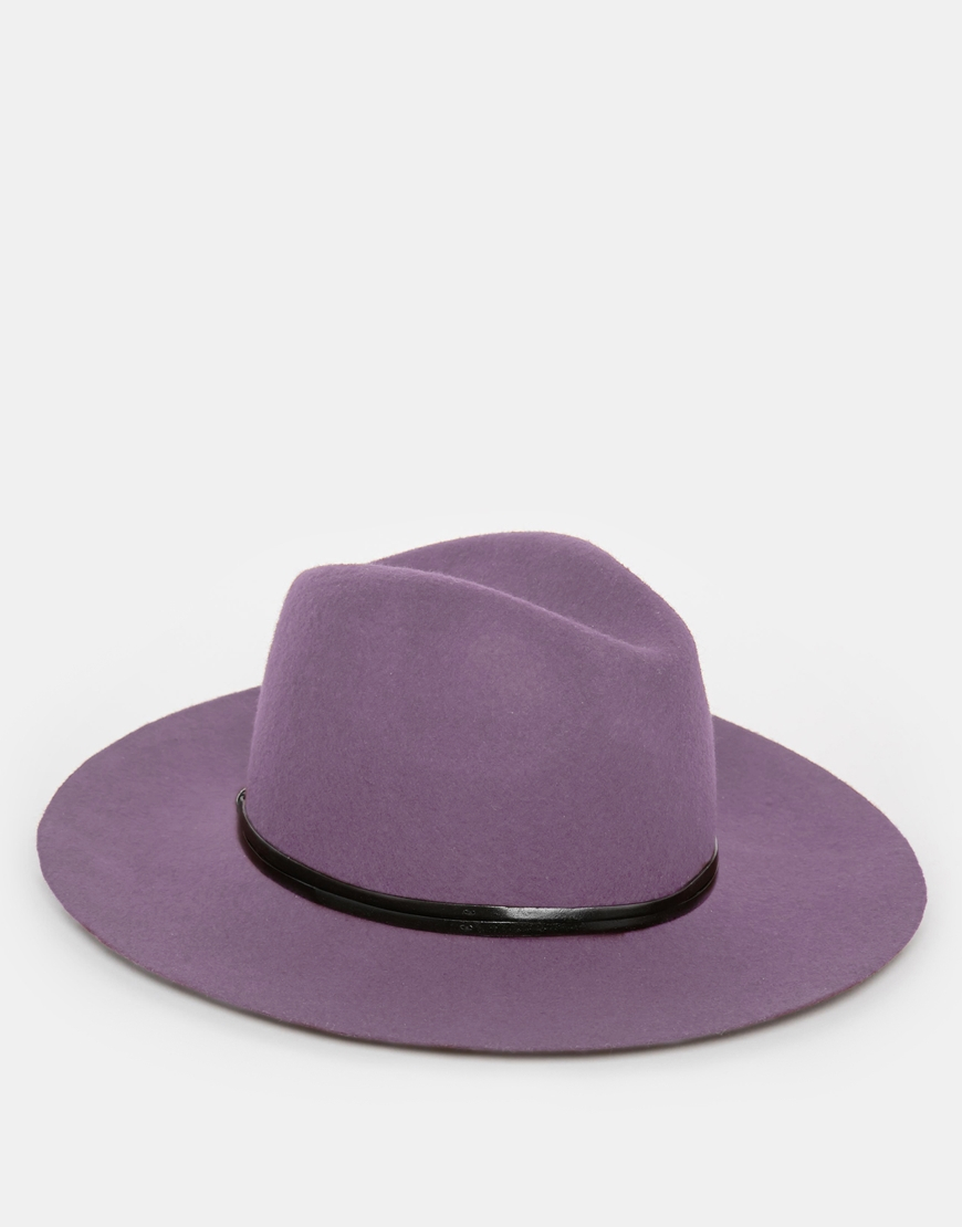 902ca3e7675f7 Catarzi Wide Brim Unstructured Fedora Hat in Purple for Men - Lyst