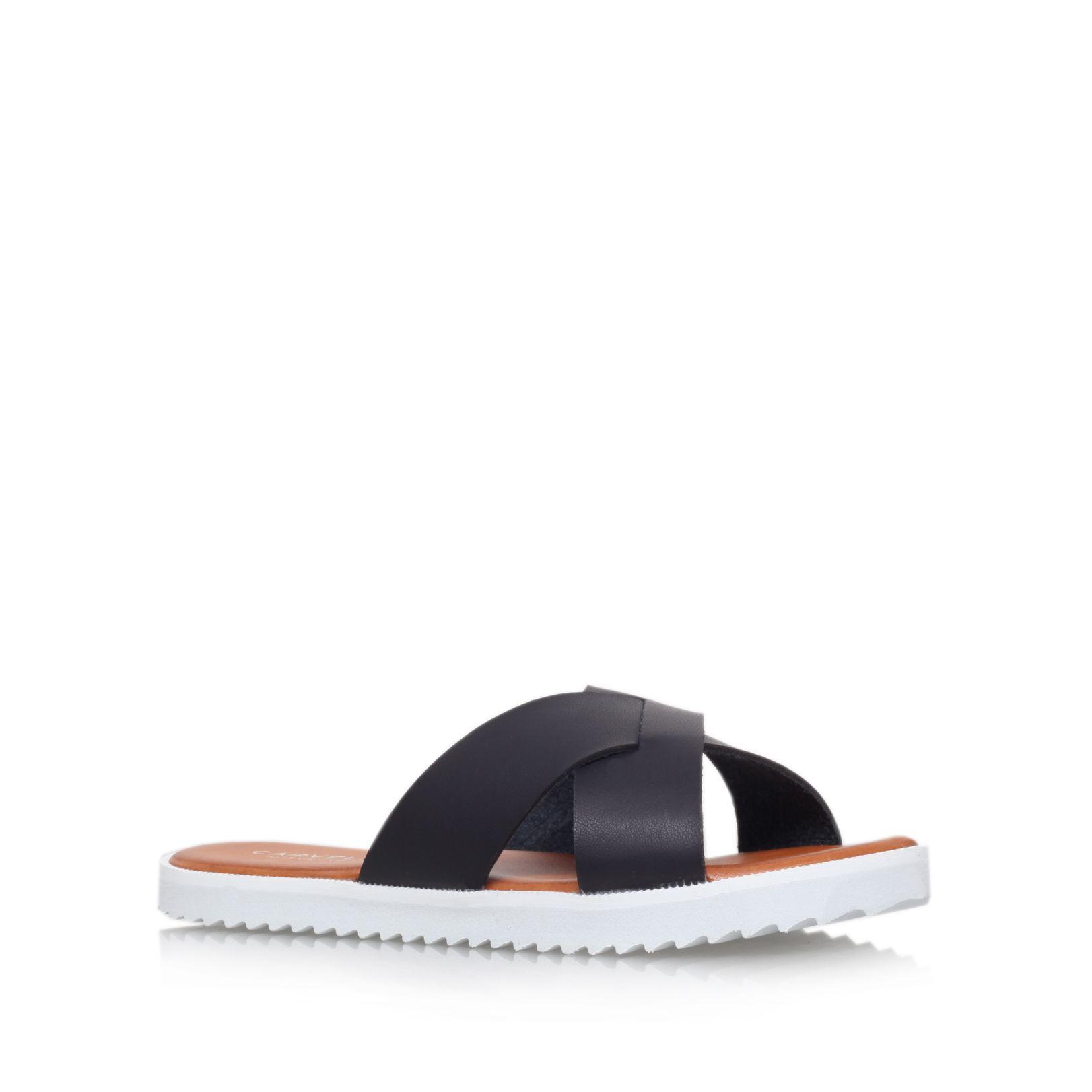 carvela kurt geiger bounce flat platform slip on sandals