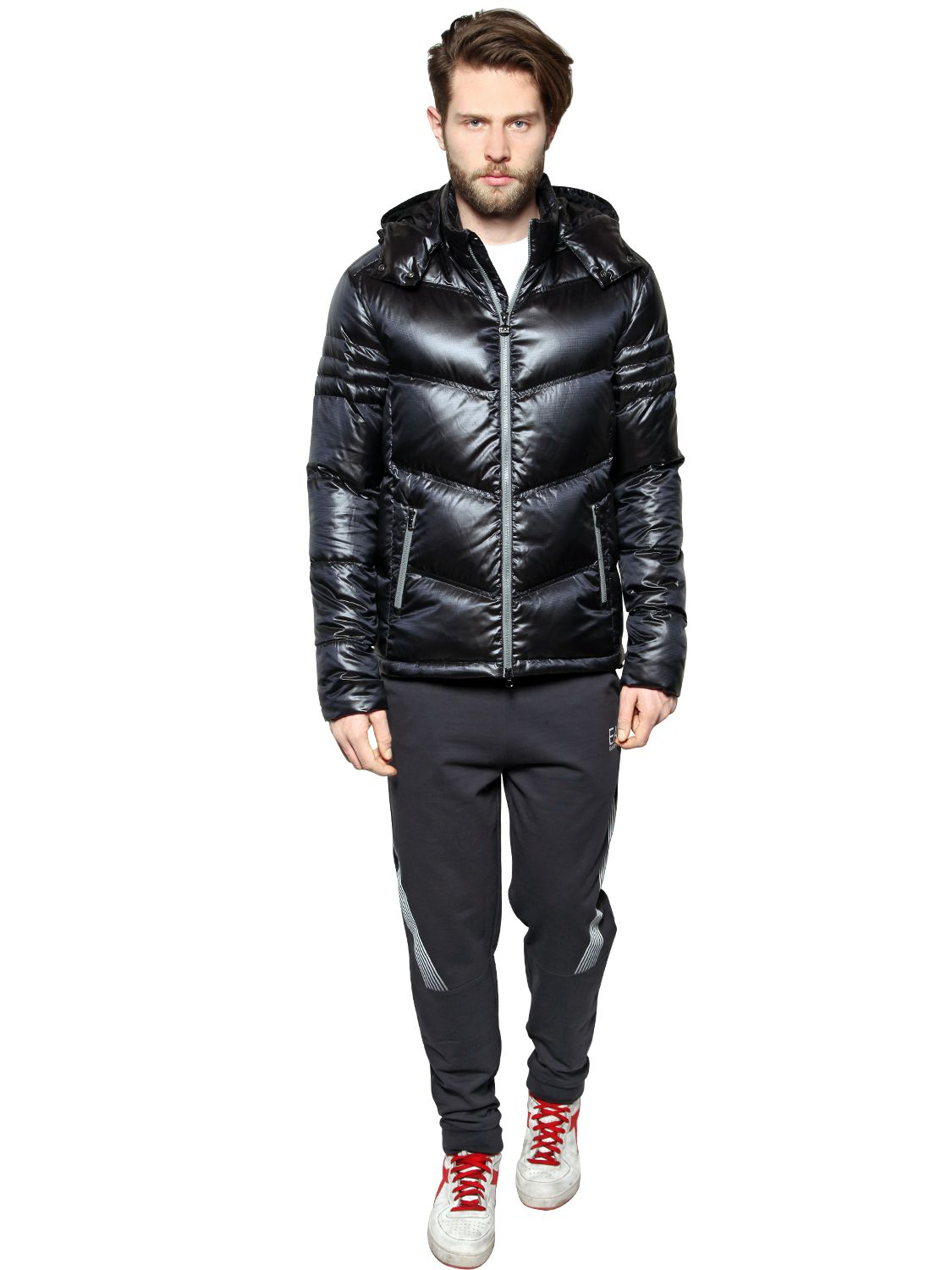 Lyst Emporio Armani Mountain Shiny Nylon Down Jacket In