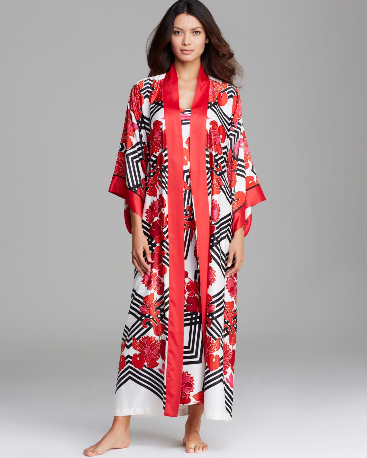 Lyst - Natori Piccadilly Robe in Black 0bbbe3a9b