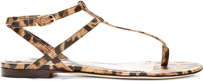 Dolce & Gabbana Leopard Slingback Flats really online XJ0Nt