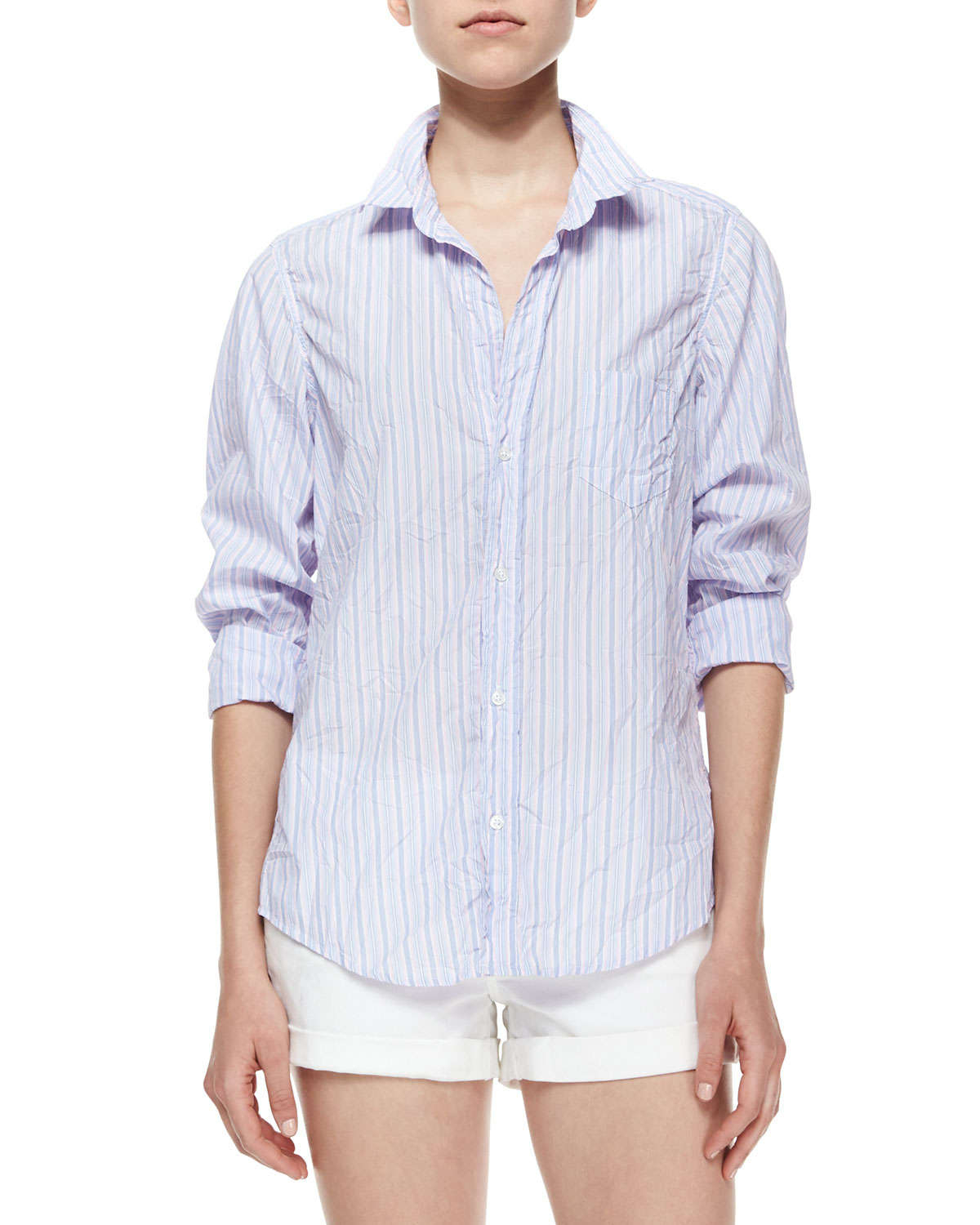 b5afc1754 Frank & Eileen Limited Edition Barry Long-sleeve Striped Blouse in ...
