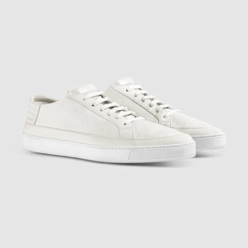 Lyst - Gucci Leather Low-top Sneaker in White for Men f29c325606a9