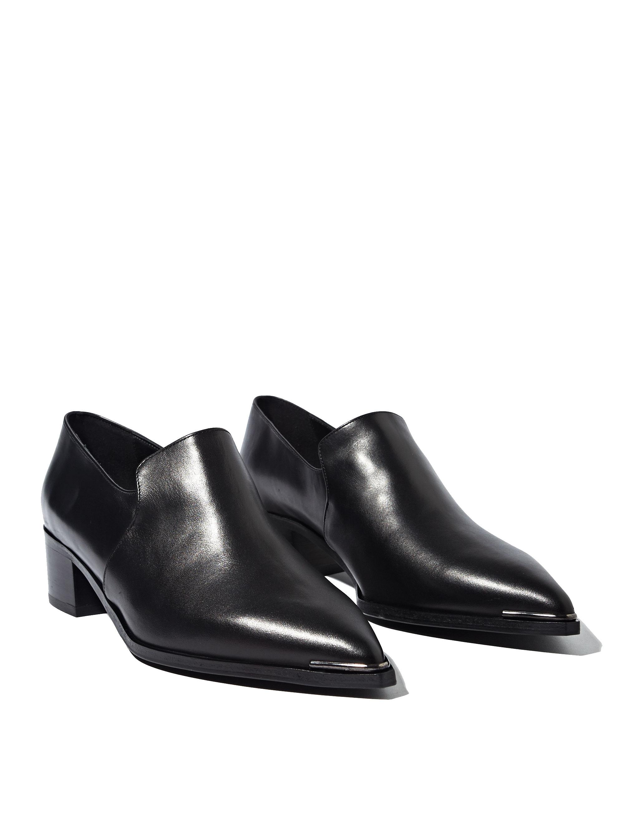 103e9153e5e Lyst - Acne Studios Womens Jaycee Lamb Leather Loafer Shoes in Black