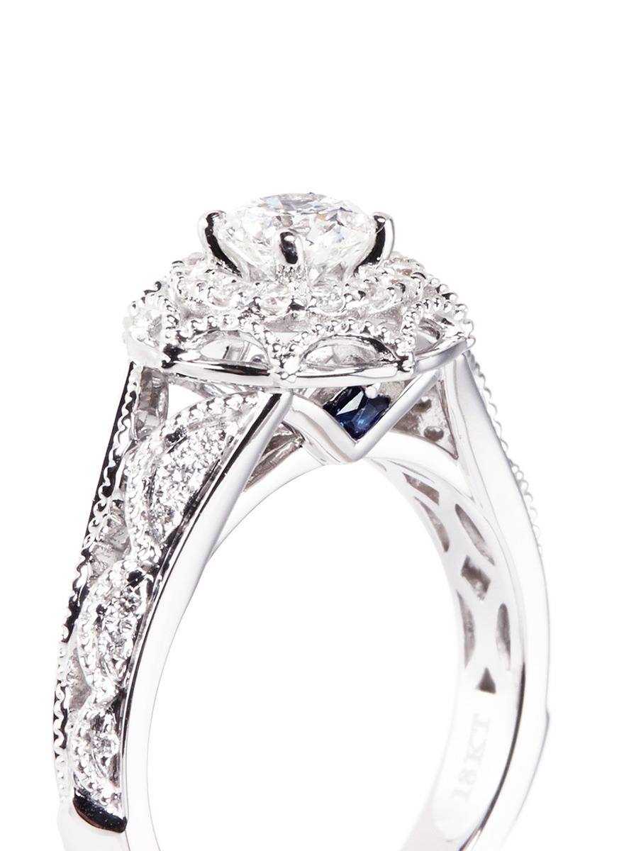 vera wang love tiara diamond and white gold engagement
