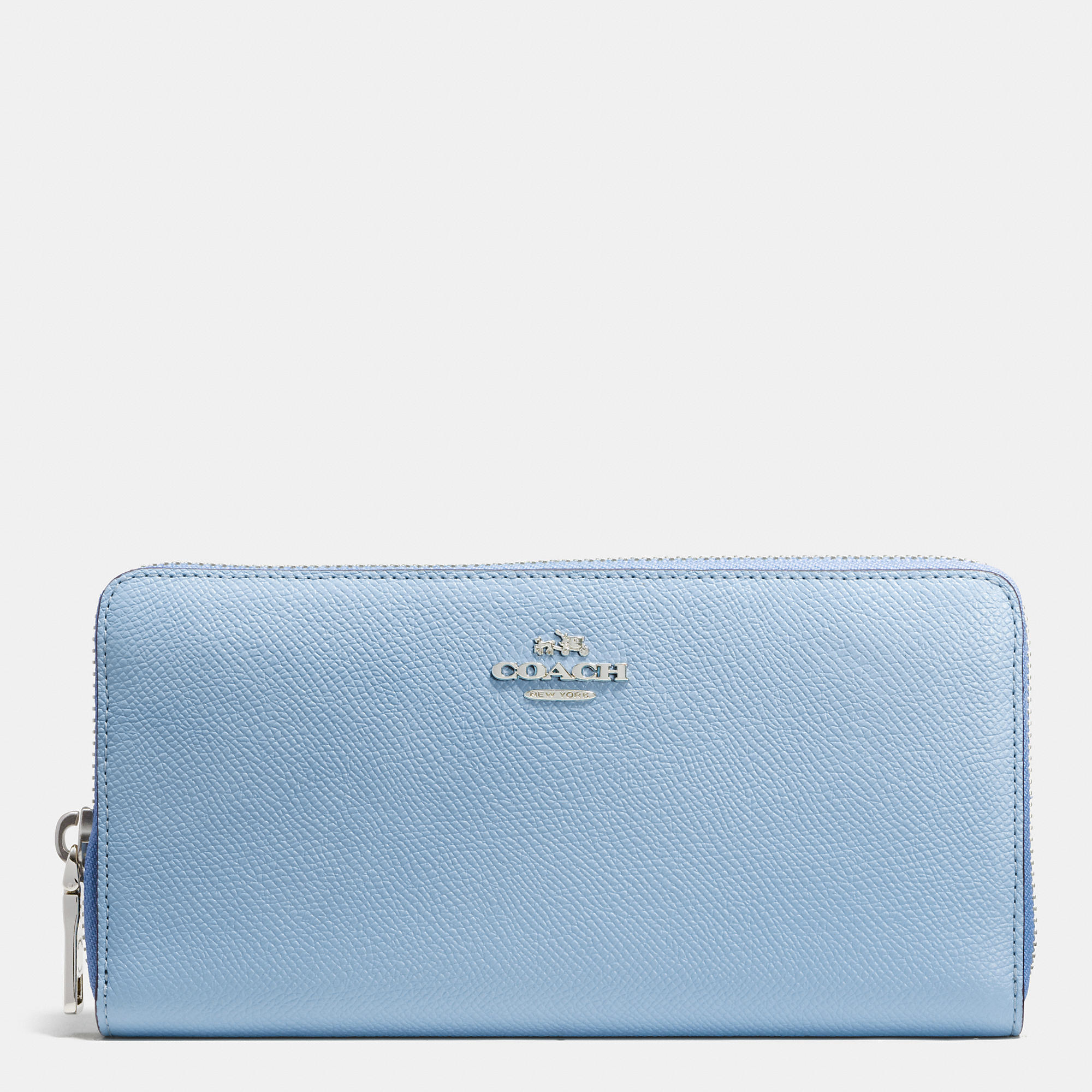 71432bedb77c8 ... france lyst coach accordion zip wallet in colorblock crossgrain leather  8e418 8d466