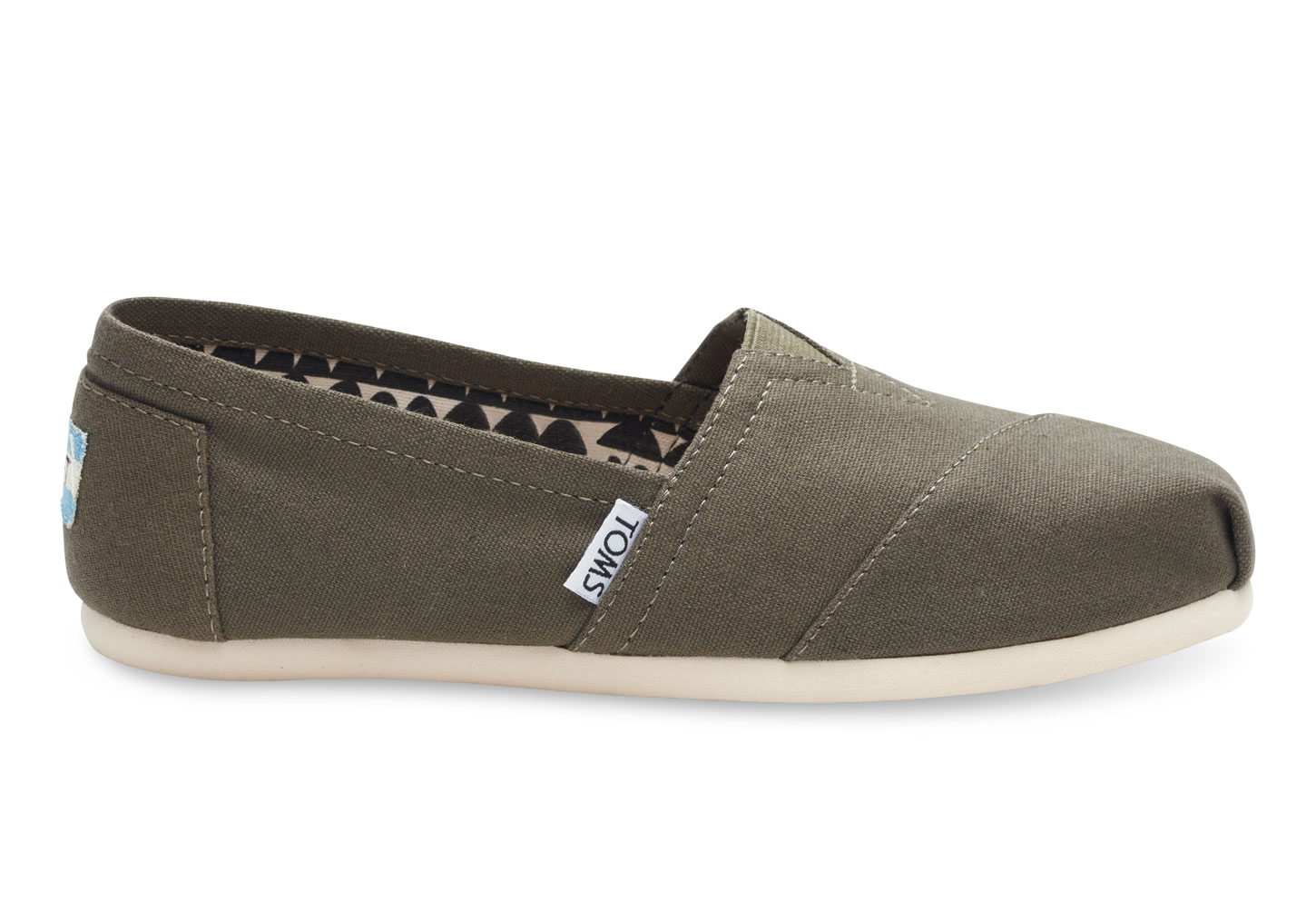 Toms Mens Tarmac Olive Suede Shoes