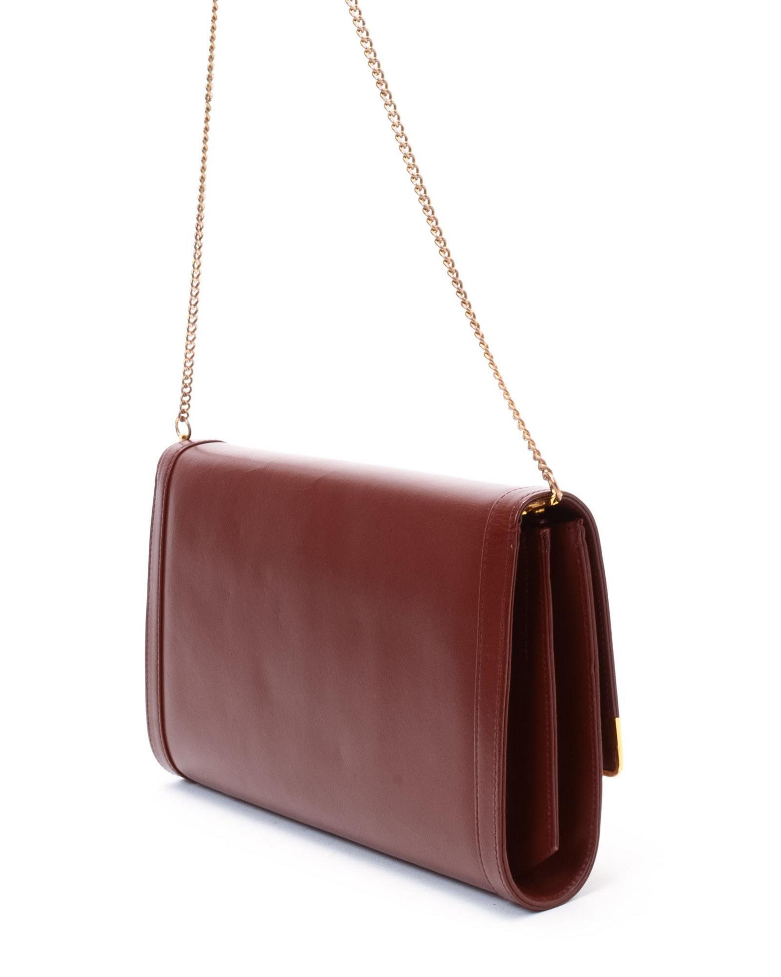 Cartier Vintage Shoulder Bag Leather Travel Bags