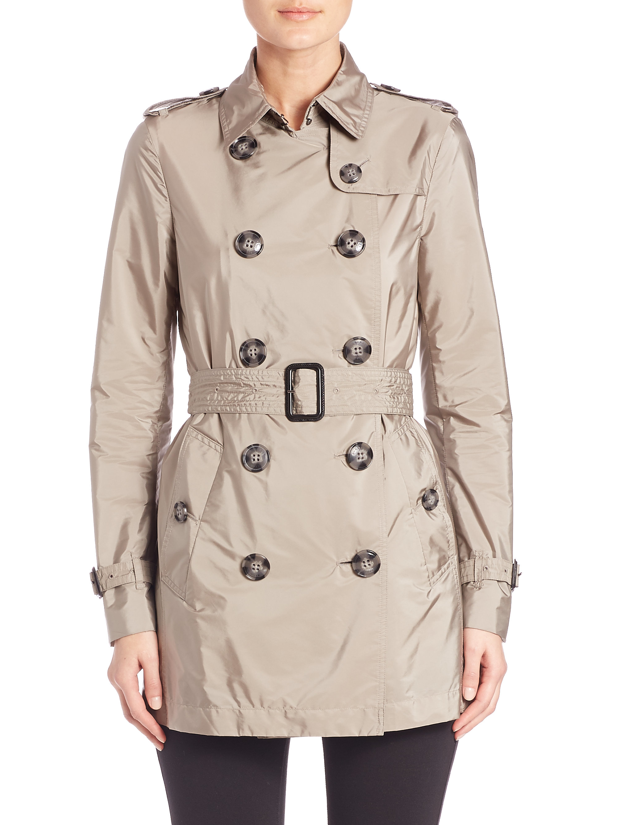 Burberry Kerringdale Lightweight Trenchcoat In Gray Lyst